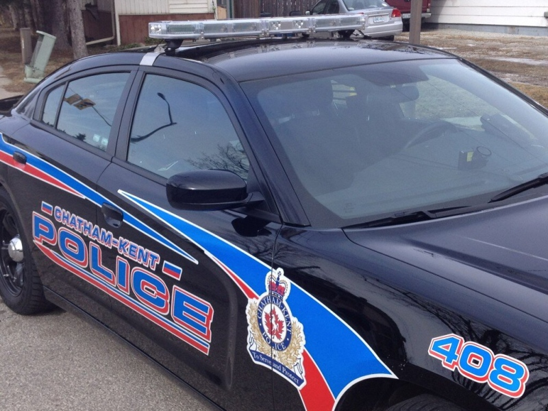 File photo of a Chatham-Kent police cruiser in Chatham, Ont., Feb. 17, 2013. (Chris Campbell / CTV Windsor)