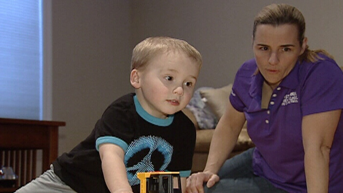Kaiden Ames and his mother Helen Meinzinger are hopeful researchers will find a cure for Cystic Fibrosis.