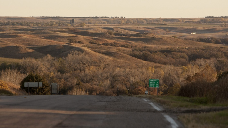 The Keystone XL pipeline is planned to be built through the sandhills near Mills, Nebraska, shown here on Oct. 13, 2012. (AP / Nati Harnik)