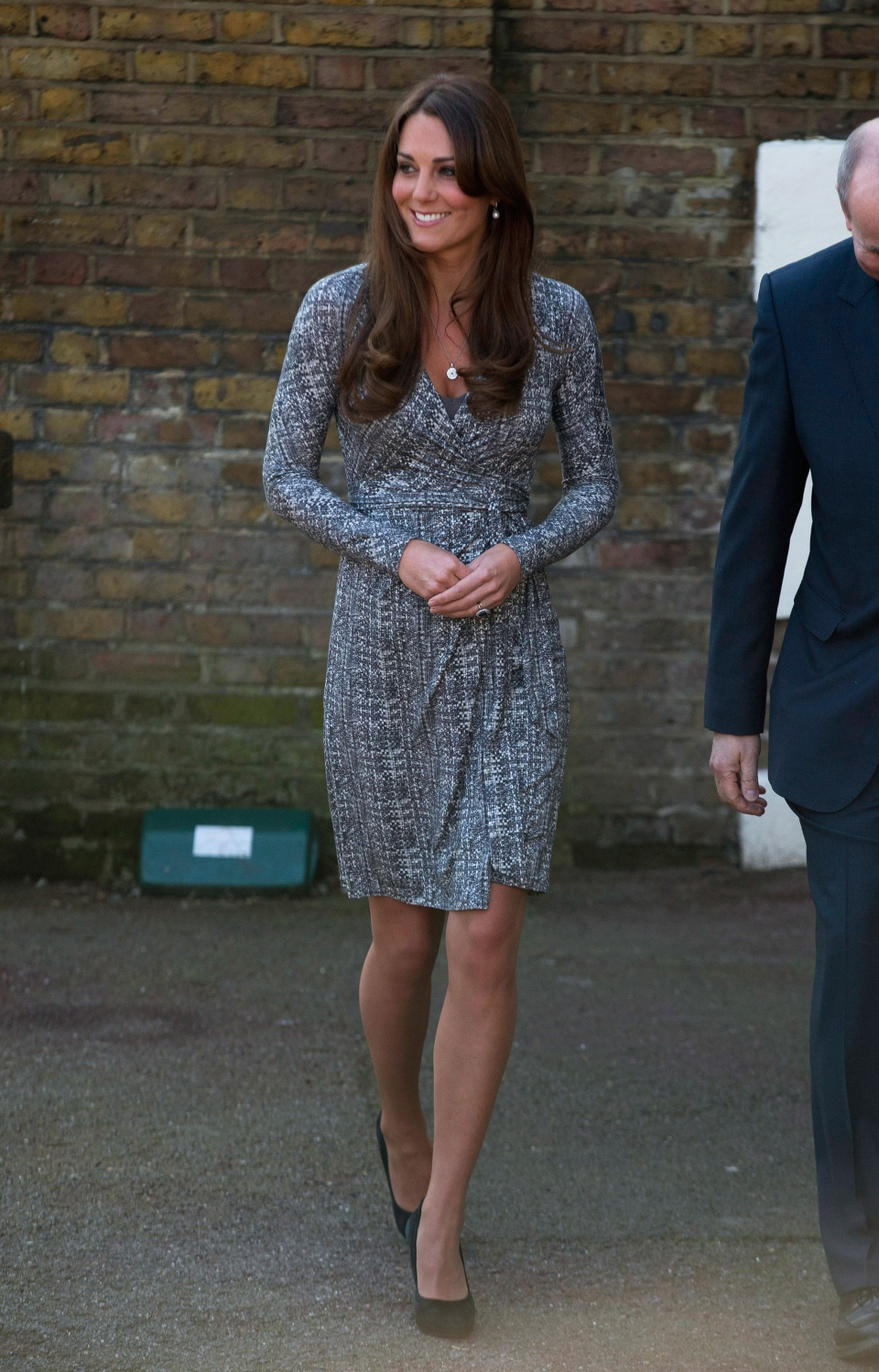 The Duchess of Cambridge arrives at Hope House, in London on Tuesday, Feb. 19, 2013. (AP / Matt Dunham)