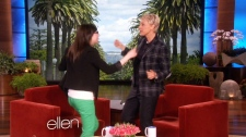 Helene Campbell  dances with Ellen