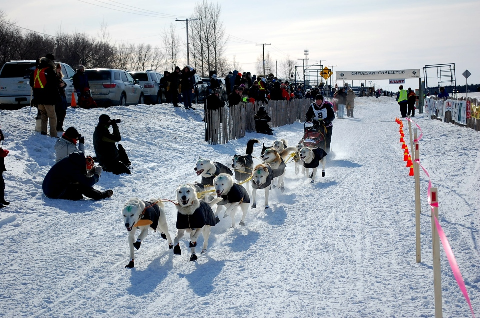 The Canadian Challenge sled dog race officially got underway on Tuesday.