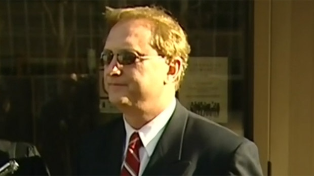 Former Winnipeg police officer Richard Dow is shown outside the Law Courts in 2012. Dow was found dead inside Headingley jail on Feb. 19, 2013.