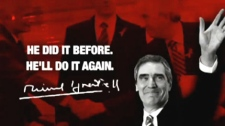 This image is taken from one of the Conservatives attack ads that take aim at Ignatieff and his so-called 'coalition partners,' the Bloc Quebecois and NDP, which were launched on Monday, Jan. 17, 2011.