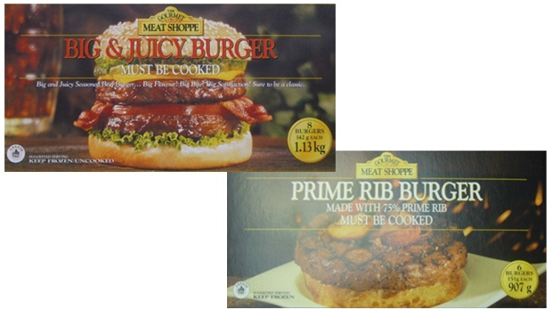 Gourmet Meat Shoppe Burgers recalled