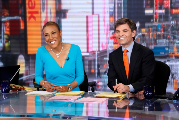 Robin Roberts, left, on Feb. 20, 2013