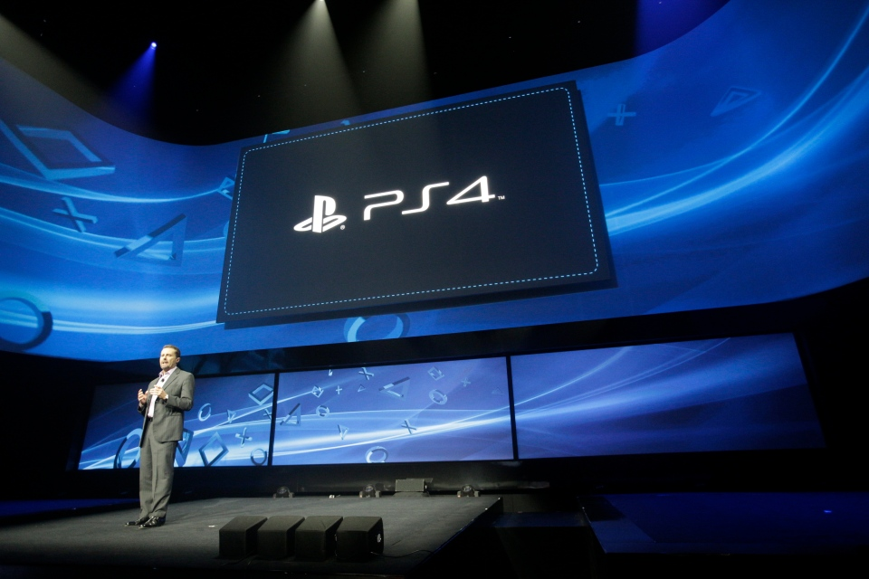 Andrew House speaks at an event to announce the Sony Playstation 4, in New York, Wednesday, Feb. 20, 2013. (AP / Frank Franklin II)