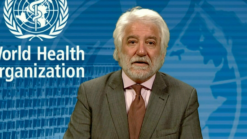 Gregory Hartl from the World Health Organization says so far there have been no signs of coronavirus transmission in humans.