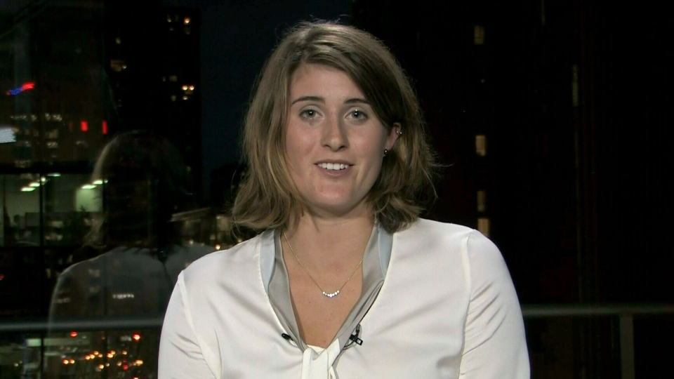 Canadian tennis star Rebecca Marino appears on CTV's Canada AM from Vancouver, on Thursday, Feb. 21, 2013.