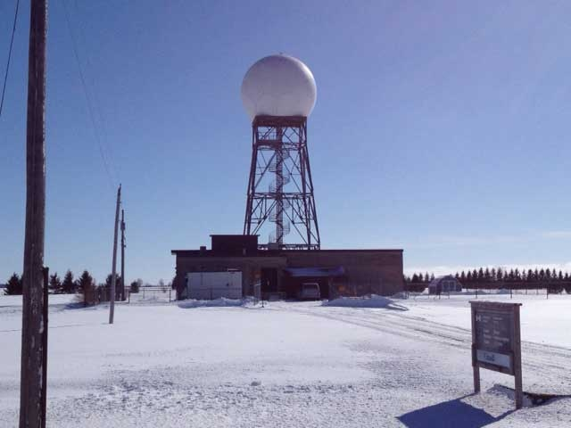 The Environment Canada radar station is seen in Exeter, Ont. on Thursday, Feb. 21, 2013. (Scott Miller / CTV London)