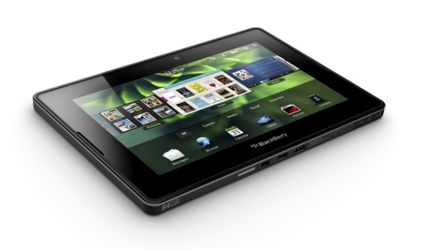 The BlackBerry PlayBook is seen in this image courtesy Research in Motion.