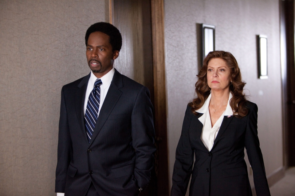 Harold Perrineau, left, and Susan Sarandon in a scene from Alliance Films' 'Snitch.' (AP / Summit Entertainment, Steve Dietl)
