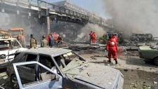 Damascus explosion, Syria Feb. 21