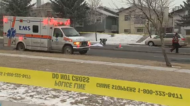 Police say they've found a second vehicle, but have yet to confirm if it is the same vehicle that struck a woman on Sandstone Dr. N.W. on Wednesday morning.