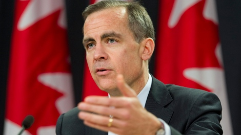 Bank of Canada Governor Mark Carney speaks during a news conference after the Bank of Canada released its quarterly Monetary Policy Report in Ottawa, Wednesday, Jan. 19, 2011. (Adrian Wyld / THE CANADIAN PRESS)