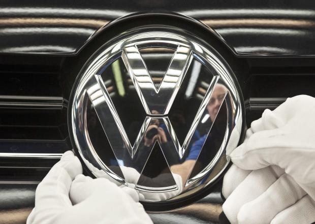 Volkswagen emblem seen on Nov. 9, 2012.
