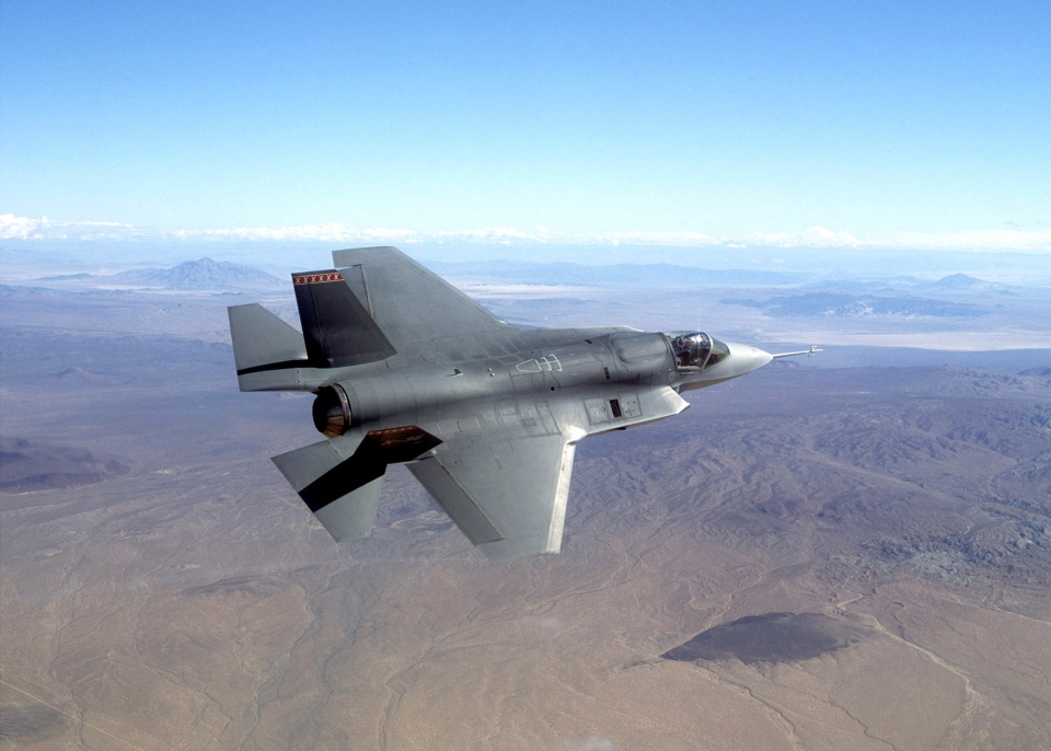 This undated photo shows a pre-production model of the F-35 Joint Strike Fighter. (Northrop Grumman Corp.)