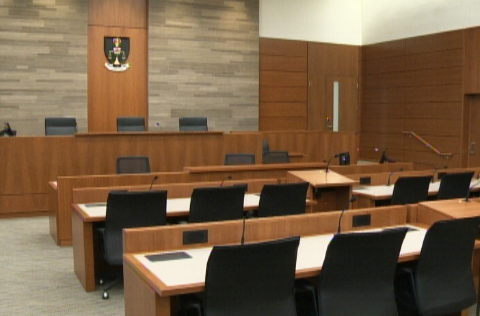 A courtroom in Kitchener's consolidated courthouse is seen on Friday, Feb. 22, 2013. (CTV Kitchener)