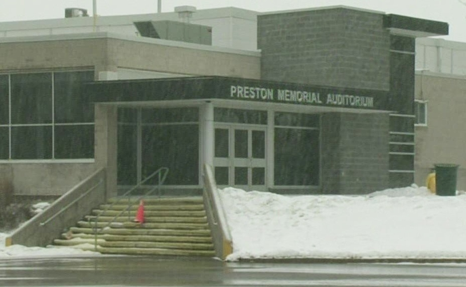 The Preston Memorial Auditorium in Cambridge, Ont., is seen on Friday, Feb. 22, 2013. (CTV Kitchener)