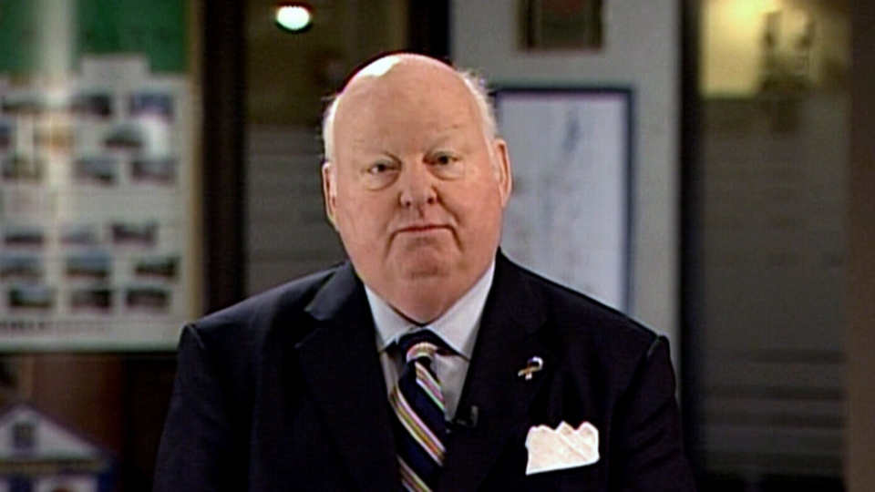 Sen. Mike Duffy appears on CTV Atlantic to discuss his housing allowance from Charlottetown, P.E.I. on Friday, Feb. 22, 2013.