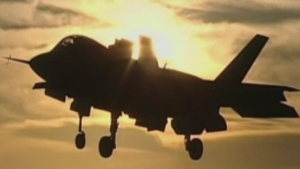 Cracked engine blade grounds new U.S. military jet