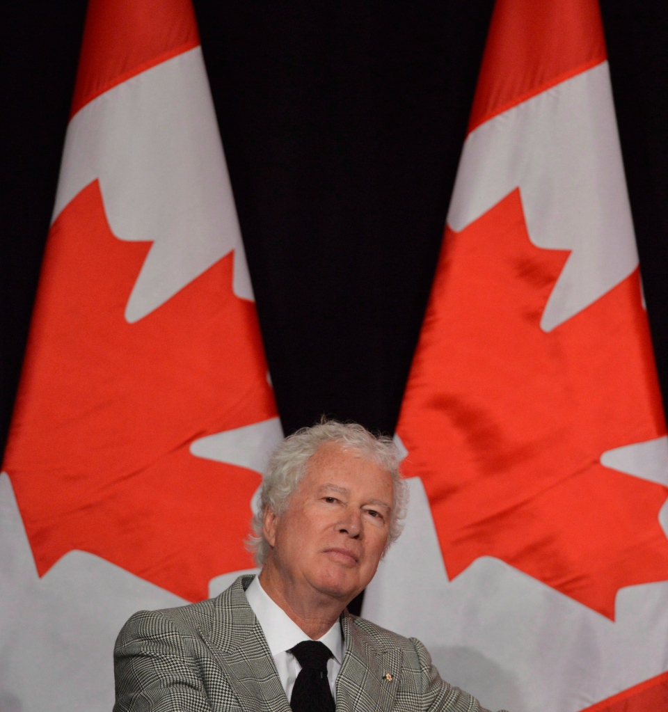 Ken Taylor, former Canadian ambassador to Iran, speaks to the Empire Club of Canada in Toronto, Thursday, Jan.24, 2013. (Nathan Denette / THE CANADIAN PRESS)