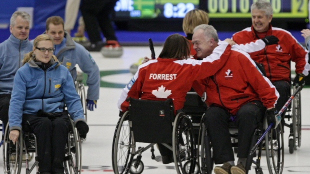 Canada wins gold at world wheelchair curling