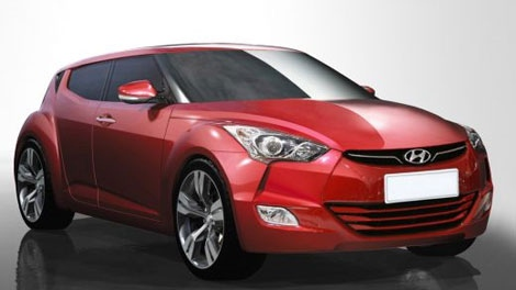 2013 Hyundai Veloster is seen in this photo courtesy Hyundai Auto Canada.