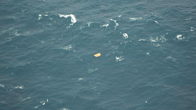 A photo taken during a patrol show debris likely from the the Miss Ally on Thursday Feb. 21, 2013. (HO, Nova Scotia RCMP/ THE CANADIAN PRESS)