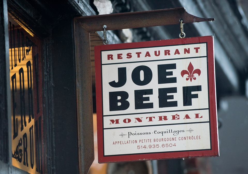 Joe Beef restaurant is shown in Montreal on Saturday, Feb. 23, 2013. (Graham Hughes / THE CANADIAN PRESS)