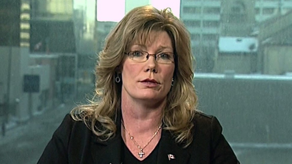 Parliamentary Secretary to the Minister of Finance Shelly Glover appears on CTV's Question Period on Sunday, Feb. 24, 2013.