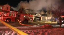 Evergreen house fire