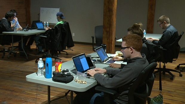 Startup Edmonton's hackathon