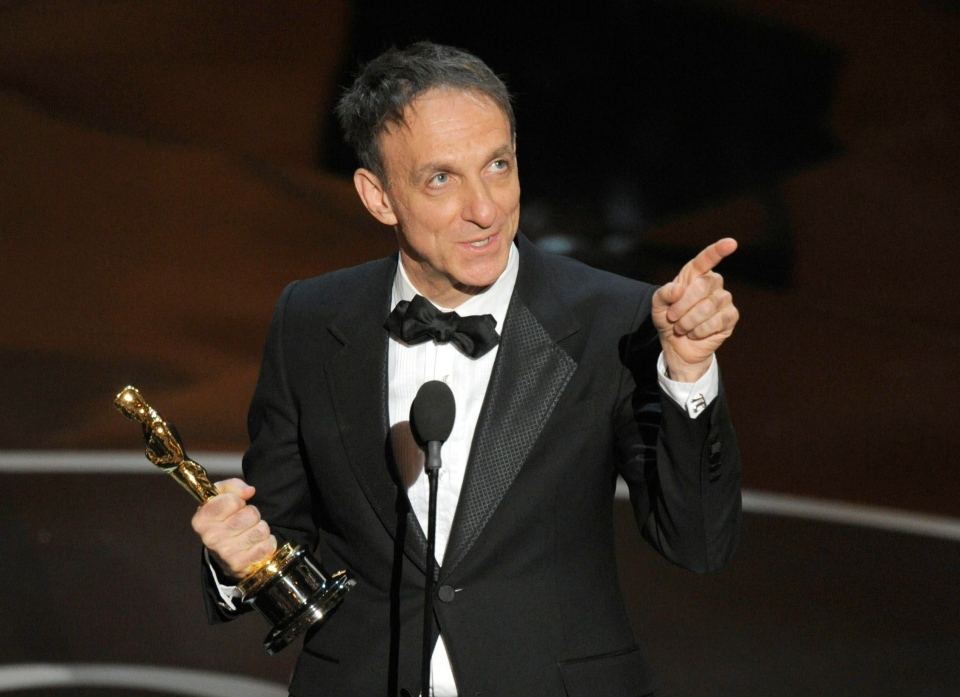 "Mychael Danna accepts the award for best original score for ""Life of Pi"" during the Oscars at the Dolby Theatre on Sunday Feb. 24, 2013, in Los Angeles. (AP/ Invision/ Chris Pizzello)"