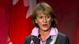 The latest fundraising numbers for federal Liberal leadership contenders suggest Joyce Murray has emerged as the primary challenger to front-runner Justin Trudeau. (Jonathan Hayward / THE CANADIAN PRESS)