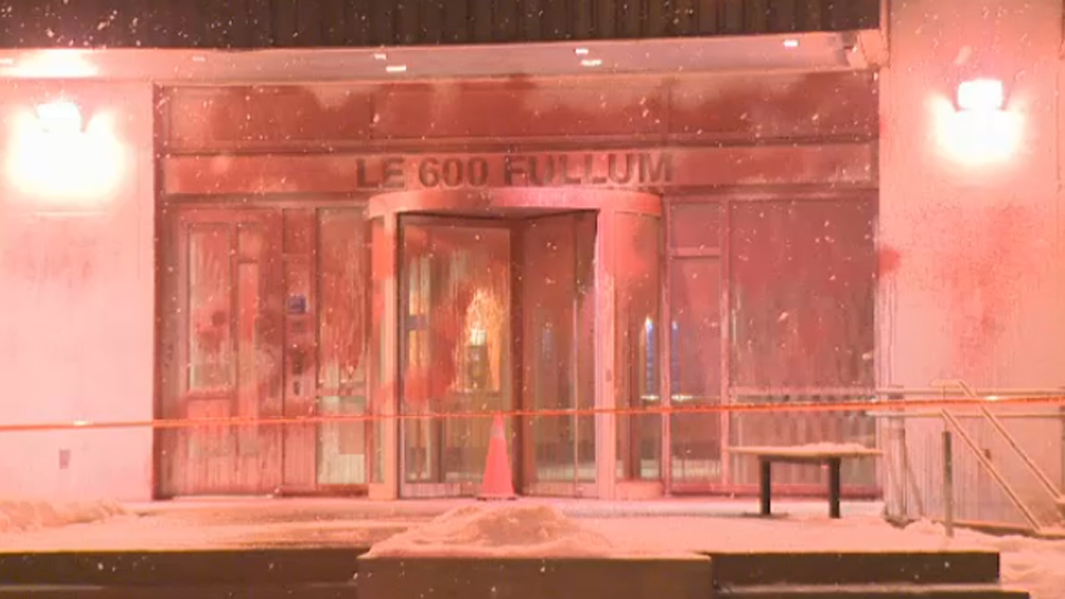 Vandals attacked the Montreal HQ for the Ministry of Education overnight (Feb. 25, 2013)