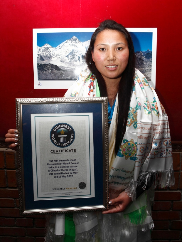 Nepalese woman mountaineer Chhurim