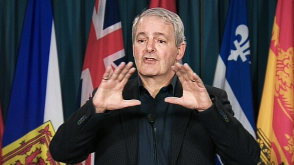 Marc Garneau challenges Justin Trudeau to a one-on-one debate during a press conference on Monday, Feb. 25, 2013.