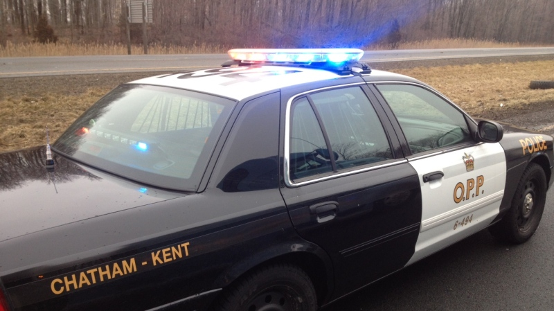 A Chatham-Kent OPP cruiser is shown in this file photo, Feb. 19, 2013. (Chris Campbell / CTV Windsor)