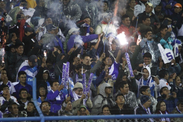 Fans in Oruro, Bolivia on Feb. 20, 2013.