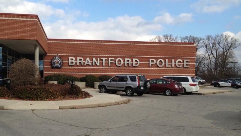 Brantford Police Service headquarters on Elgin Street in Brantford, Ont., are seen on Nov. 23, 2012. (CTV Kitchener)