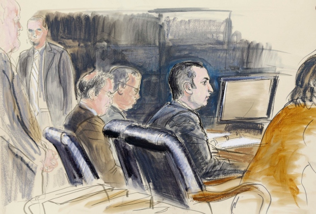 Sketch of Gilberto Valle in court, Feb. 25, 2013