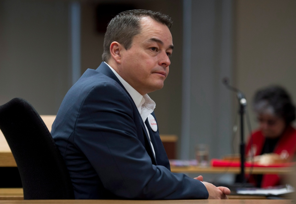 National Chief of the Assembly of First Nations Shawn Atleo waits to appear before the Canadian Human Rights Tribunal hearings in Ottawa, Monday, Feb. 25, 2013. (Adrian Wyld / THE CANADIAN PRESS)