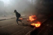 Protesters, Ofer prison near Ramallah Feb 25, 2013