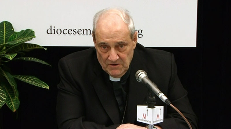 Cardinal Jean-Claude Turcotte speaks ahead of travelling to Rome, Tuesday, Feb. 26, 2013.