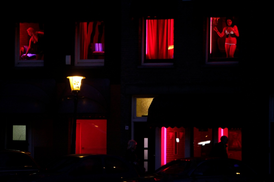 Amsterdam's red light district is pictured in this photo taken Monday, Jan. 10, 2011. (AP Photo/Peter Dejong)
