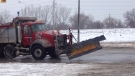 A snow plow is seen in this file photo in Windsor, Ont. (Chris Campbell / CTV Windsor)
