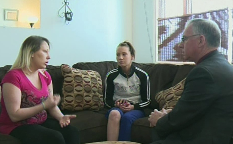 CTV's David Imrie speaks with Brianna and Lisa Bishop in Kitchener, Ont. (CTV Kitchener)