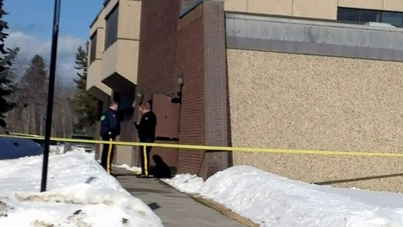 An Alberta sheriff was shot during an incident at a courthouse in Edmonton on Tuesday, Feb. 26, 2013.