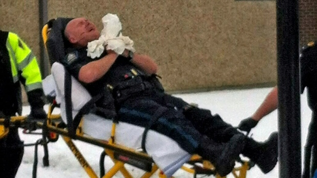 Alberta sheriff shot at courthouse